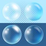 Transparent vector bubbles Stock Photo
