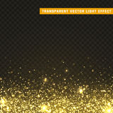 Transparent vector light effect gold Royalty Free Stock Images