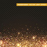 Transparent vector light effect gold, yellow Stock Images