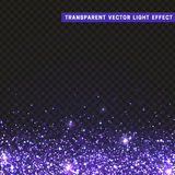 Transparent vector light effect lilac Stock Photo
