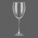 Transparent vector realistic empty wine glass Stock Photo
