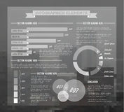 Transparent Vector set of Infographic elements Stock Photos