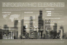 Transparent Vector set of Infographic elements Royalty Free Stock Photos