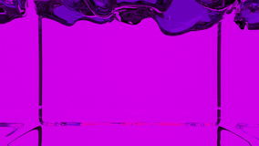 Transparent violet paint fills screen, alpha channel included like luma matte. 3d render 4 stock video
