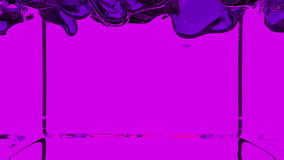 Transparent violet paint fills screen, alpha channel included like luma matte. 3d render 5 stock footage