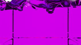 Transparent violet paint fills screen, alpha channel included like luma matte. 3d render 8.  royalty free illustration