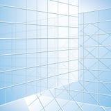 Transparent wall - vector blue windows Stock Photos