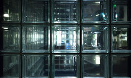 Transparent wall made of glass blocks, background Stock Image