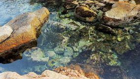 Transparent water from Coasta Brava in Spain.  stock video footage