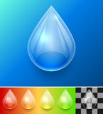 Transparent water drop template Royalty Free Stock Images