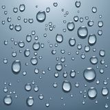 Transparent water drops royalty free stock photography