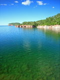 Transparent water of lake Superior Stock Image