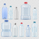 Transparent water plastic clean bottle 3d realistic container barrel gallon template set vector illustration company. Water plastic clean bottle 3d realistic Royalty Free Stock Photography