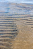 Transparent water ripple texture sand waves and sunlight Stock Image