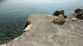 Transparent water at the shore. Summer stock video footage
