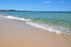 Transparent waters in Sardinia. Sardinia - Costa Rei beach - amazing sea stock photos