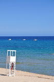 Transparent waters in Sardinia. Sardinia - Costa Rei beach - amazing sea stock photography