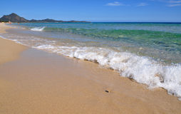 Transparent waters in Sardinia. Sardinia - Costa Rei beach - amazing sea stock images