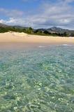 Transparent waters in Sardinia. Sardinia - Costa Rei beach - transparent sea royalty free stock images