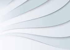Transparent wavy banner template Stock Photography