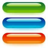 Transparent web buttons Stock Photography