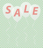 Transparent white balloons with the inscription sale vector illu Stock Photography