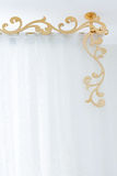 Transparent white curtains Stock Images