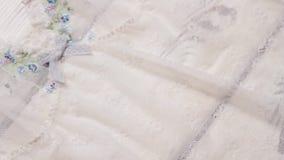 Transparent white nightie. stock video footage