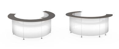 Transparent white reception Stock Image