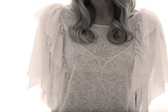 Transparent white shirt, white background Royalty Free Stock Photo