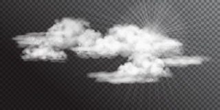 Transparent White Vector Clouds Royalty Free Stock Photos