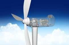 Transparent windmill Stock Photography