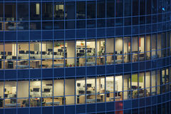 Transparent windows of large business center Royalty Free Stock Photos
