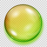 Transparent yellow and green sphere with shadow Stock Photos