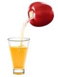 Transparente Äpfel, die in Glas fallen Vektor Abbildung