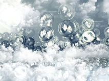 Transparente Bälle stock abbildung