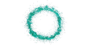 Transparente blaue Farbe, die einen Kreis auf klarem weißem Hintergrund bildet Alpha Matt-, volles hd, CG, 3d übertragen 5 stock abbildung