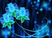 Transparente Blumen vektor abbildung