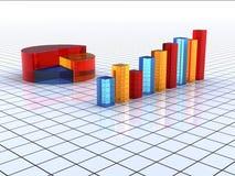 Transparente bunte Diagrammstäbe Stockfoto