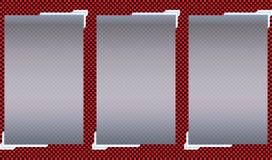 Transparente Fahnen lokalisiert Auch im corel abgehobenen Betrag Stockfotos