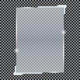 Transparente Fahnen lokalisiert Auch im corel abgehobenen Betrag Lizenzfreie Stockfotos