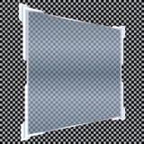 Transparente Fahnen lokalisiert Auch im corel abgehobenen Betrag Lizenzfreies Stockbild