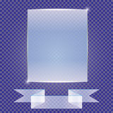 Transparente Fahnen lokalisiert Auch im corel abgehobenen Betrag Stockfotografie