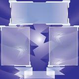 Transparente Fahnen lokalisiert Auch im corel abgehobenen Betrag Stockfoto