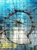 Transparente gebrochene Glasbeschaffenheit Stockbilder