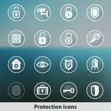 Transparente glühende Geistschutzikonen Lizenzfreie Stockbilder