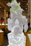 Transparente Glas-Buddha-Statue, luftgetrockneter Ziegelstein rgb Lizenzfreie Stockfotos