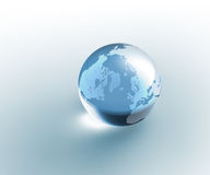 Transparente Glaskugel Erde Stockbild