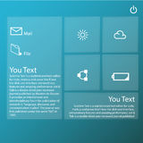 Transparente grafische Webdesigntechnologie Stockfoto