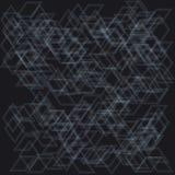 Transparente helle Würfel auf einem dunklen Hintergrund Stockfotos